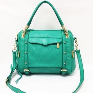 Rebecca Minkoff Cupid Bright Green Leather Satchel